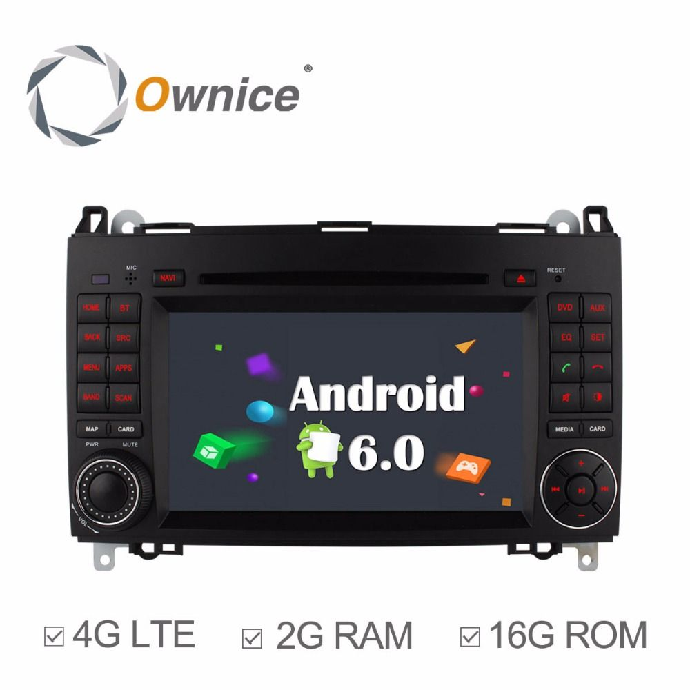 Ownice 4G SIM LTE Android6.0 8 Core 32G ROM Car DVD GPS Navi For Mercedes A-class W169 Sprinter W209 Crafter Viano Vito LT3 W245