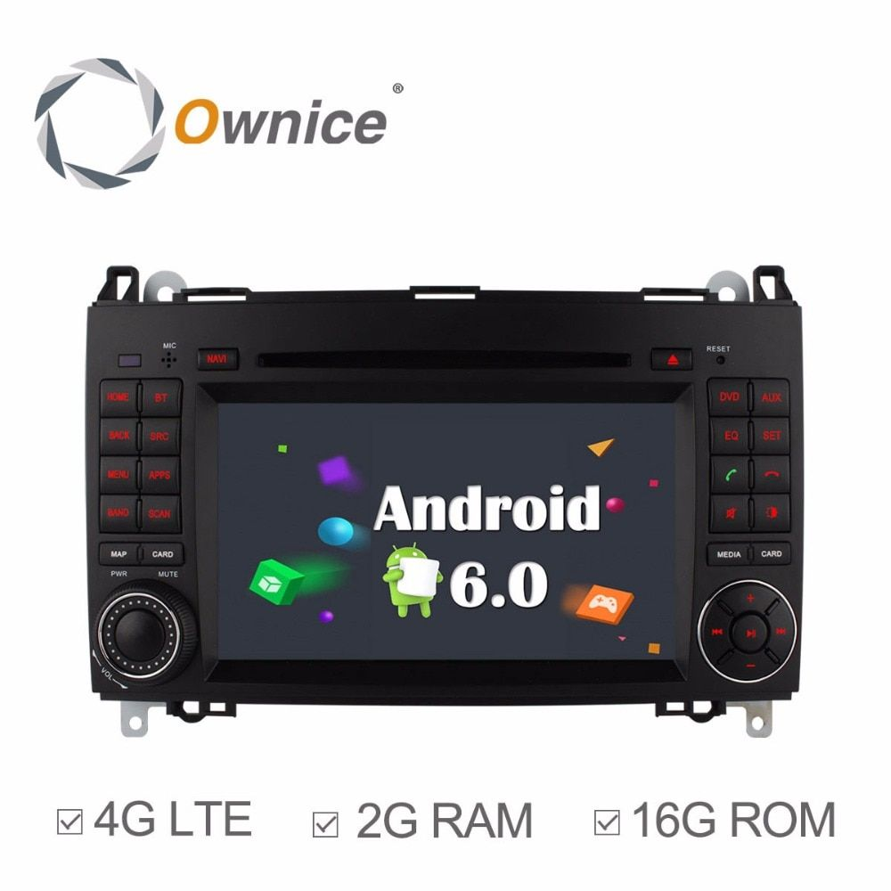 Ownice 4g SIM LTE Android6.0 8 Core 32g ROM Auto DVD GPS Navi Für Mercedes A-klasse w169 Sprinter W209 Crafter Viano Vito LT3 W245
