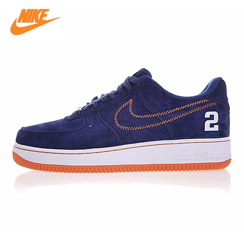 Nike Air Force1 männer Skateboard Schuhe, blau, rutschfeste Wasserdichte Breathable haltbare AQ0666 481