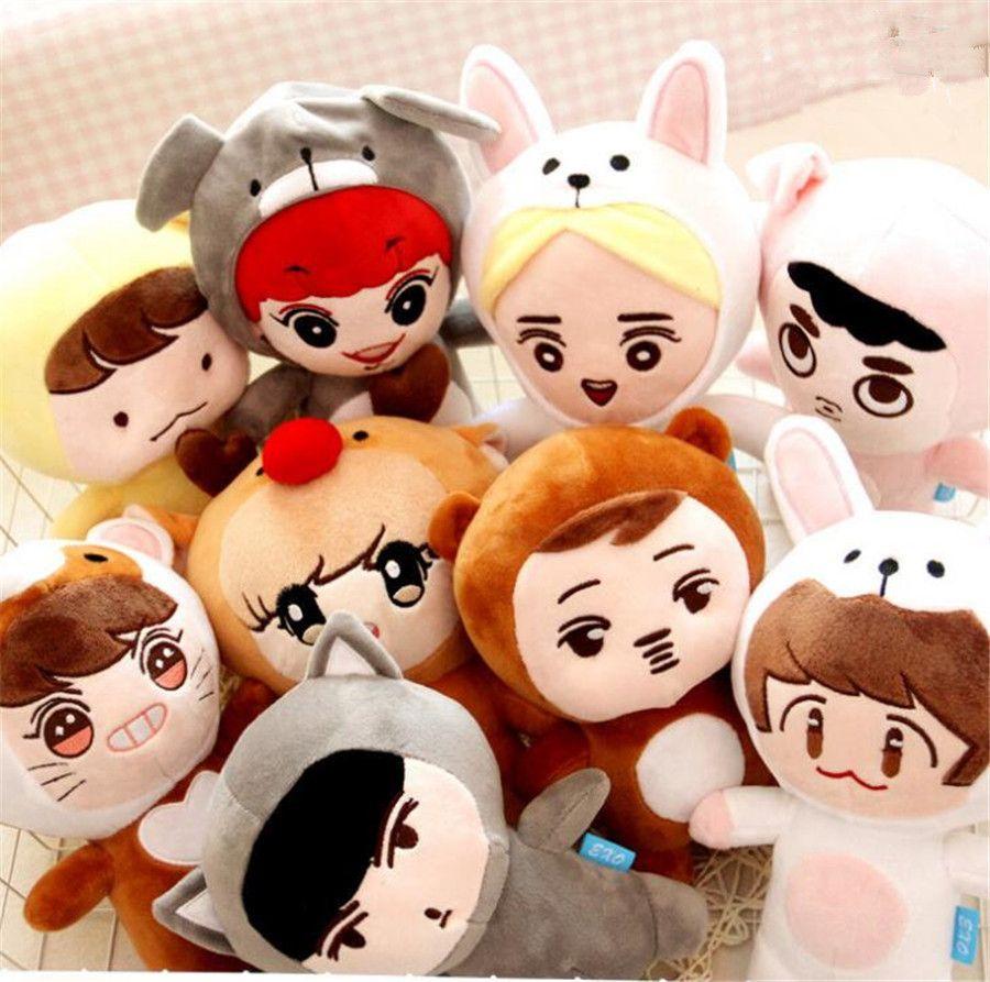 24cm Anime KPOP EXO D.O. Plush Toys Kawaii Doll Doh Kyungsoo Baby Toy Soft Fans Handmade Girlfriend Gift Sofa Cute Pillow