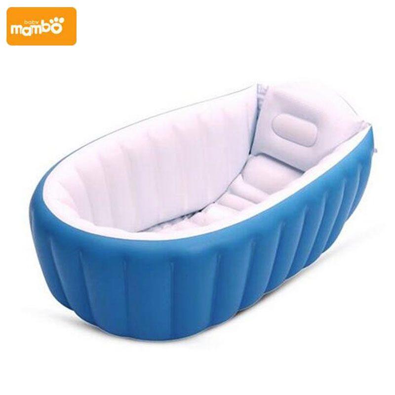 Mambobaby portátil inflable bebé baño kids los niños bañera lavabo bañera plegable engrosamiento piscina del bebé