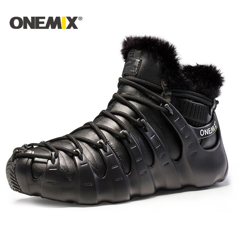 Onemix winter männer stiefel laufschuhe für frauen outdoor trekking schuh turnschuhe wanderschuhe herbst winter warm halten schuhe