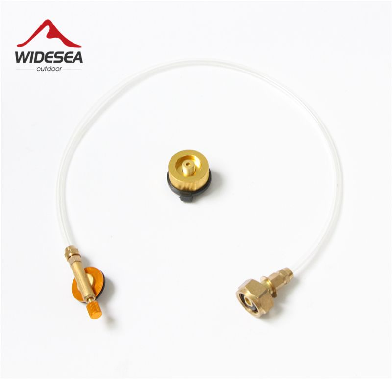 Widesea Outdoor Gas Stove Camping Stove Propane Refill Adapter Burner LPG Flat Cylinder tank Coupler Bottle Adapter Save