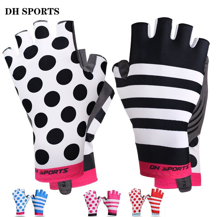 Nouveau anti-dérapant Gel Pad gants de vélo court demi doigt élégant gants de cyclisme respirant Sports de plein air hommes femmes gants de vélo