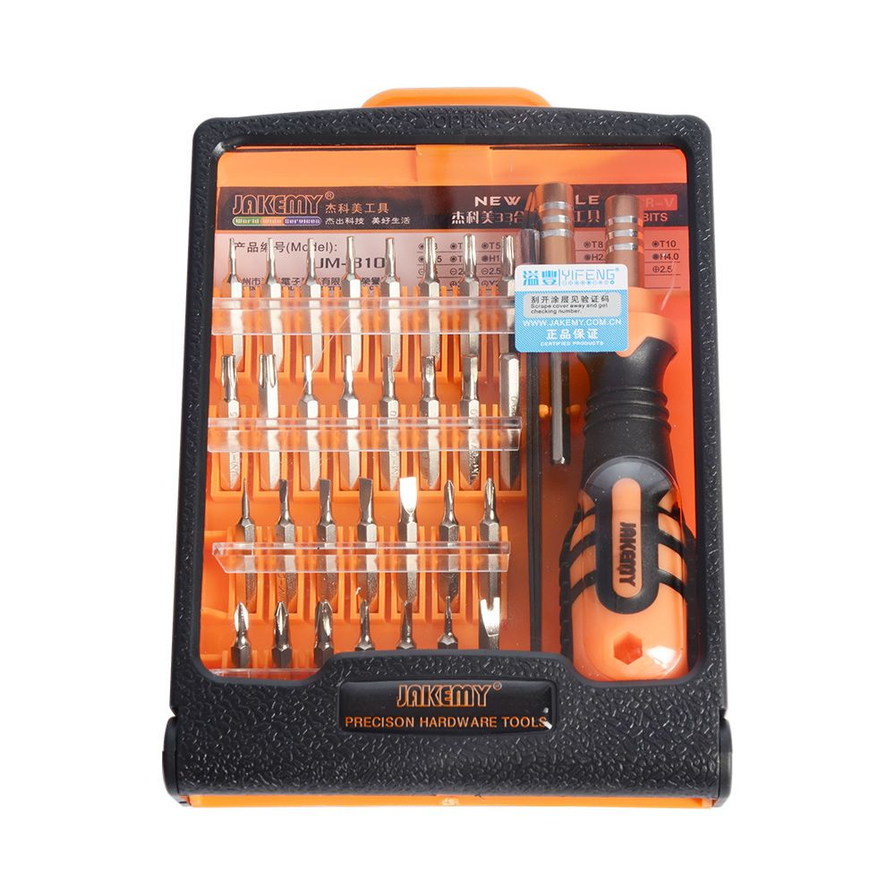 JAKEMY JM-8101 32 in1 Multifonctionnel Précision Jeu de Tournevis Pour iPhone Électronique Tournevis Bits Outils De Réparation Kit Set