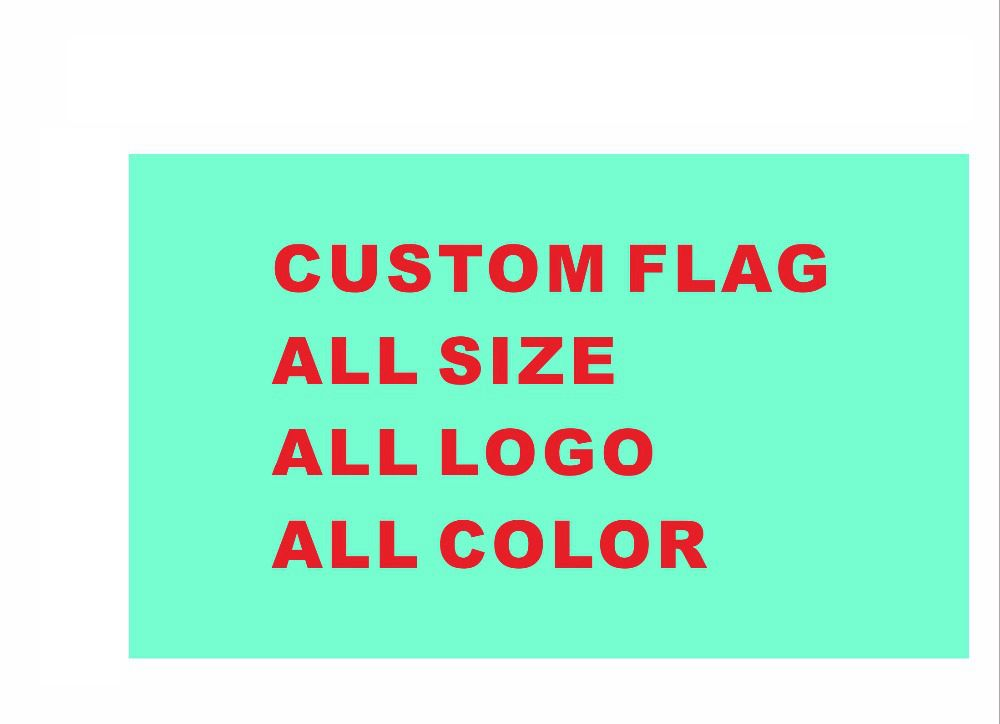 Custom flag 90*150cm all logo all color royal flag With White Sleeve Metal Gromets