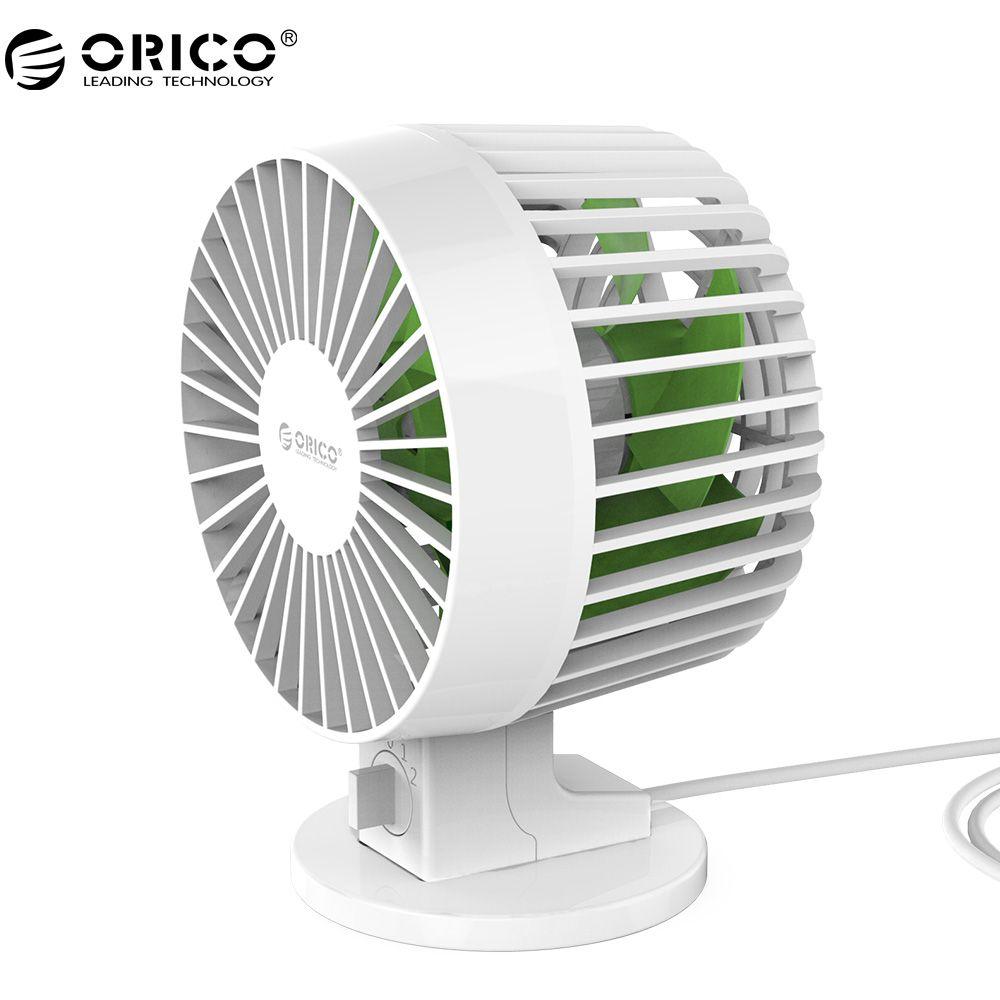 ORICO USB Fan Flexible USB Tragbare Mini-Ventilator mit Schlüsselschalter Winkel adjustabl für Notebook Laptop Power-Weiß (UF1-WH)