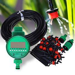 25 m DIY Micro Drip Irrigation System Plantes Auto Automatique Minuterie D'arrosage Tuyau D'arrosage Kits Avec Réglable Goutteur