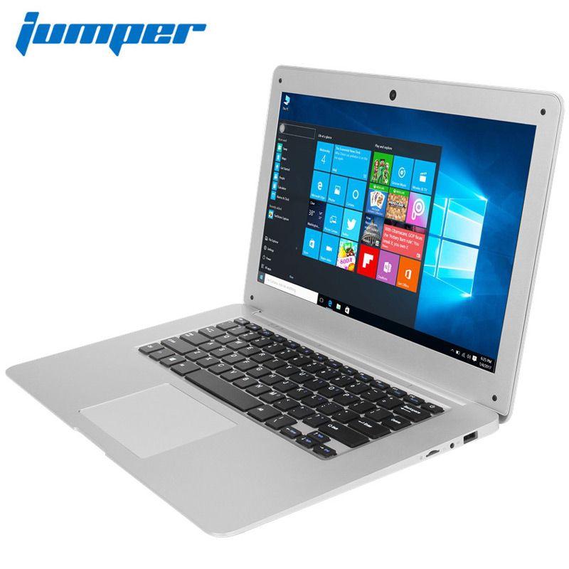 Ordinateur portable 14.1 ''Win10 ordinateur portable 1080P FHD Intel Cherry Trail Z8350 4GB 64GB ultrabook Jumper EZbook 2 ordinateur portable computador