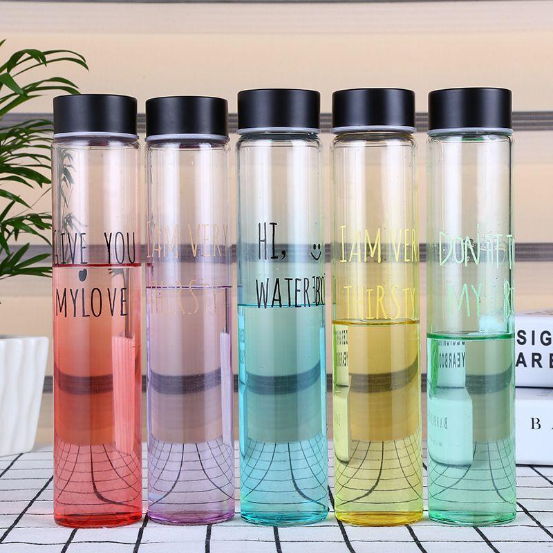 Étoiles Verre bouteille d'eau bouteille d'eau potable De Mode Multi Couleur Populaire bouteilles d'eau Facilement bouteille à bouchon Livraison BPA