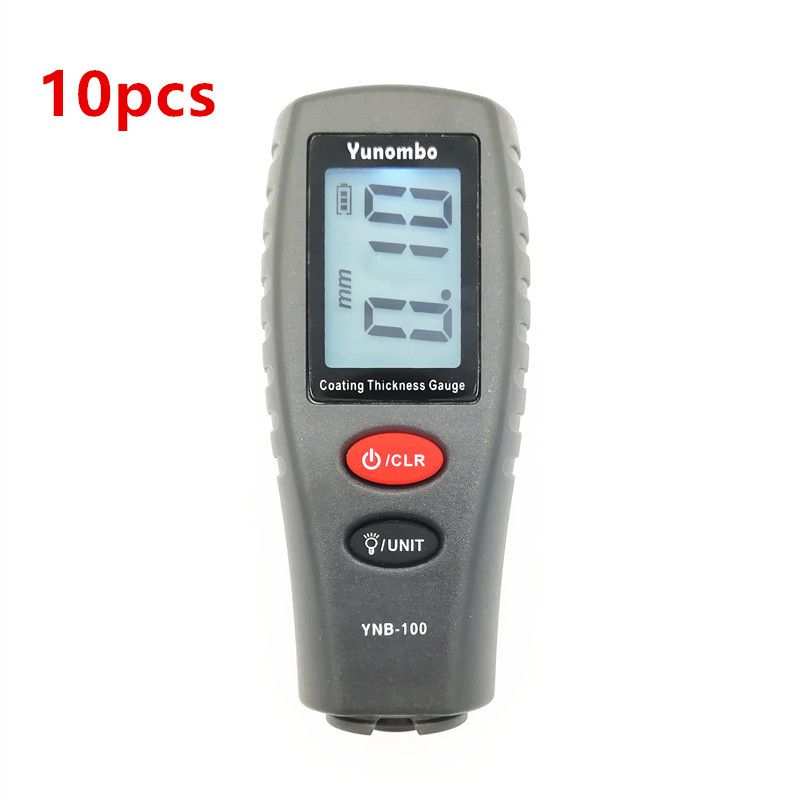 10pcs Yunombo YNB-100 Digital Car Paint Thickness Meter Thickness Tester Coating Thickness Gauge with English Russia Manual