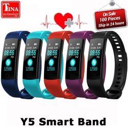 Y5 Bande À Puce Montre Couleur Écran Bracelet Coeur Taux Activité Fitness tracker Smartband Électronique Bracelet VS Xiaomi Miband 2