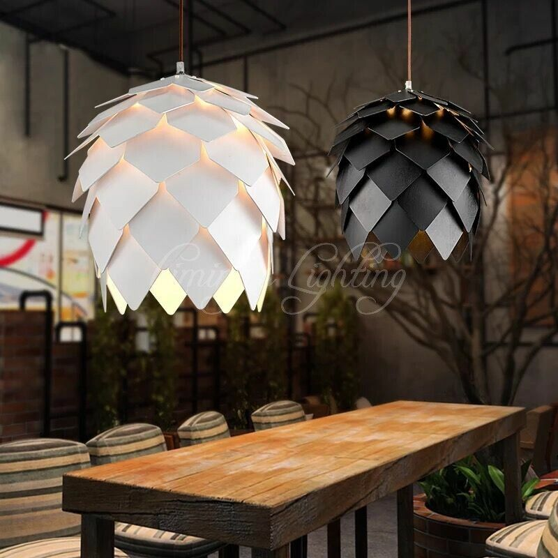 European OAK Pinecone Wood Skrivo Pendant Lights Lamps Vintage DIY Creative Edison Bulb Japan Rural Suspension Hanging Lamparas