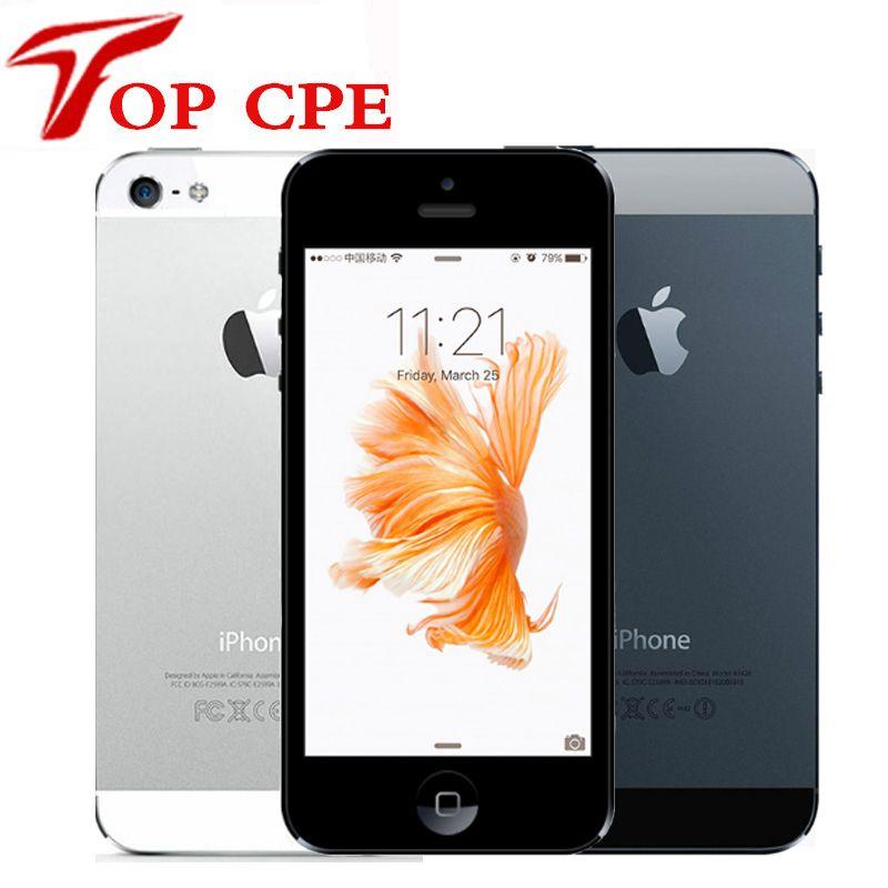 Original Apple Iphone 5 Factory Unlocked 1G RAM 16GB 32GB ROM IOS 3G 4.0 inch 8MP Camera iCloud WIFI GPS GPRS Used Mobile Phone