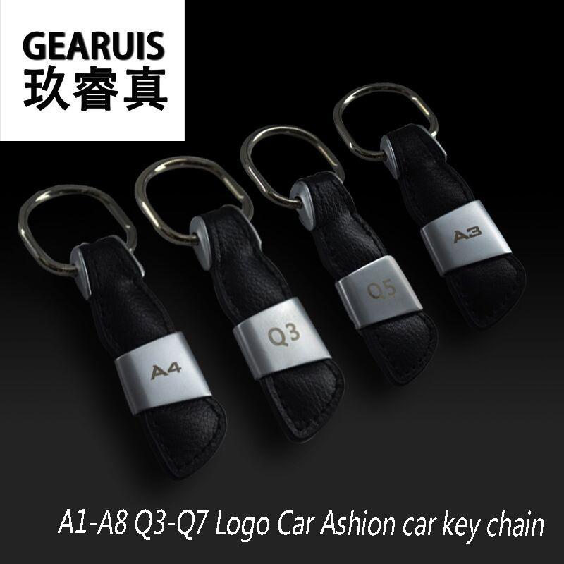 Ashion car key chain car keychain auto key ring key holder key finder For Audi A4 A6 A5 A7 A3 Q3 Q5 Interior Car styling