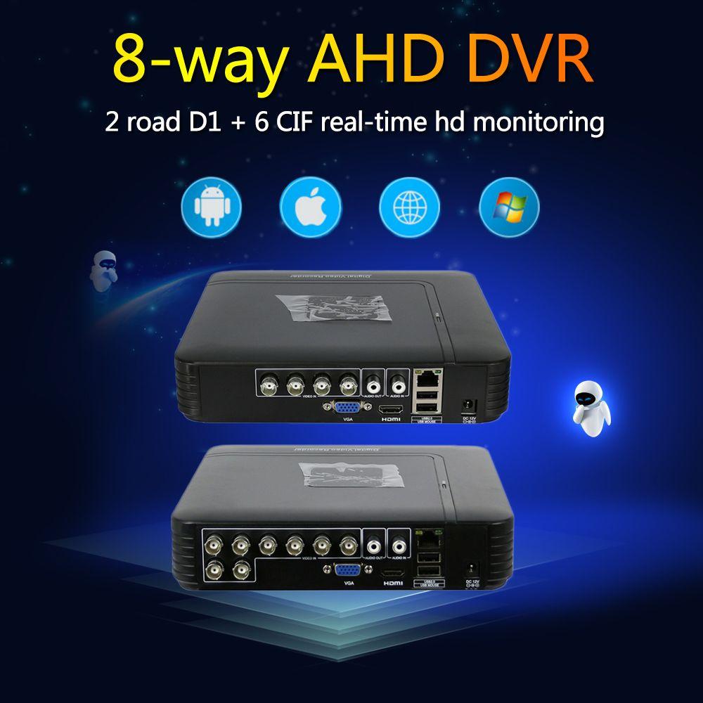 Hiseeu AHD 1080N 5IN1 Pour CCTV Kit 8CH Caméra CCTV DVR Mini Système de Sécurité DVR VGA HDMI NVR Pour Caméra IP Onvif PTZ DVR 43