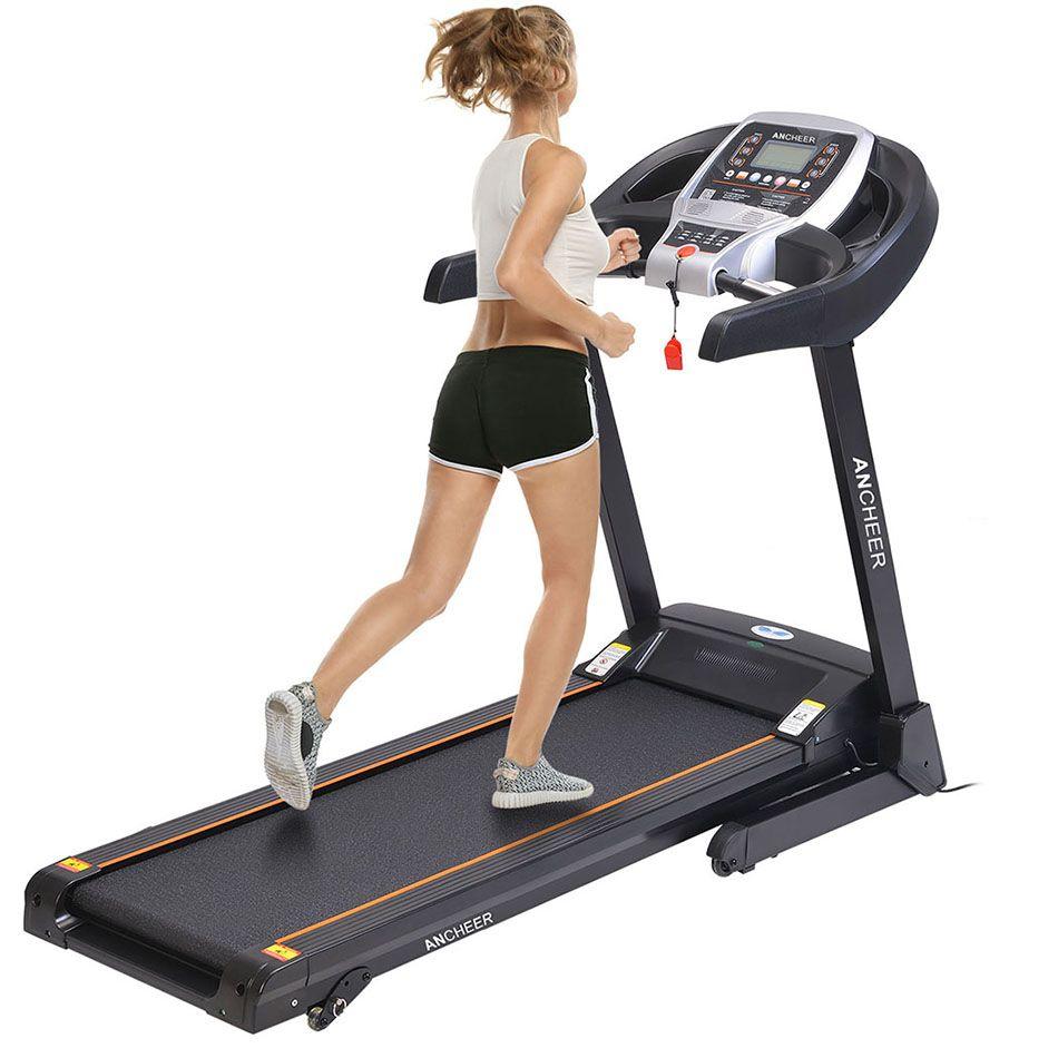 ANCHEER 2.25HP Pliage Muet Électrique Tapis Roulant Machine de Course Fitness Training Quotidienne De Fitness Matériel De Formation