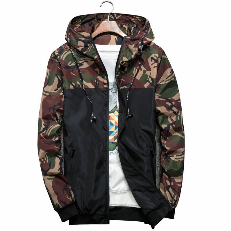 2018 New Bomber Jacket Men Hip Hop Slim Fit Flowers Pilot Bomber Jacket Coat Men's Hooded Jackets Plus Size 4XL
