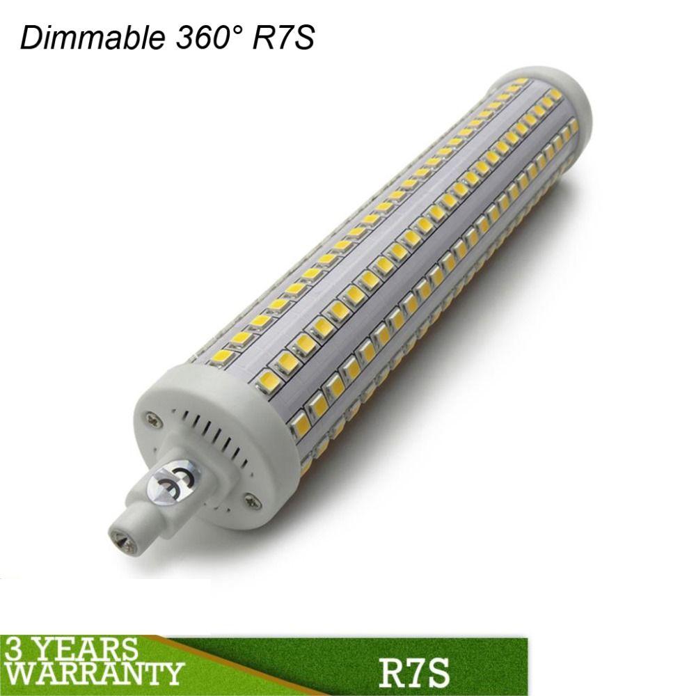NOUVEAU Dimmable LED R7S 78mm 118mm 135mm 189mm R7S LED 7 W-15 W 360 Degré LED R7S Lampara Luz J78 J118 J135 J189 SMD2835 110 V 220 V