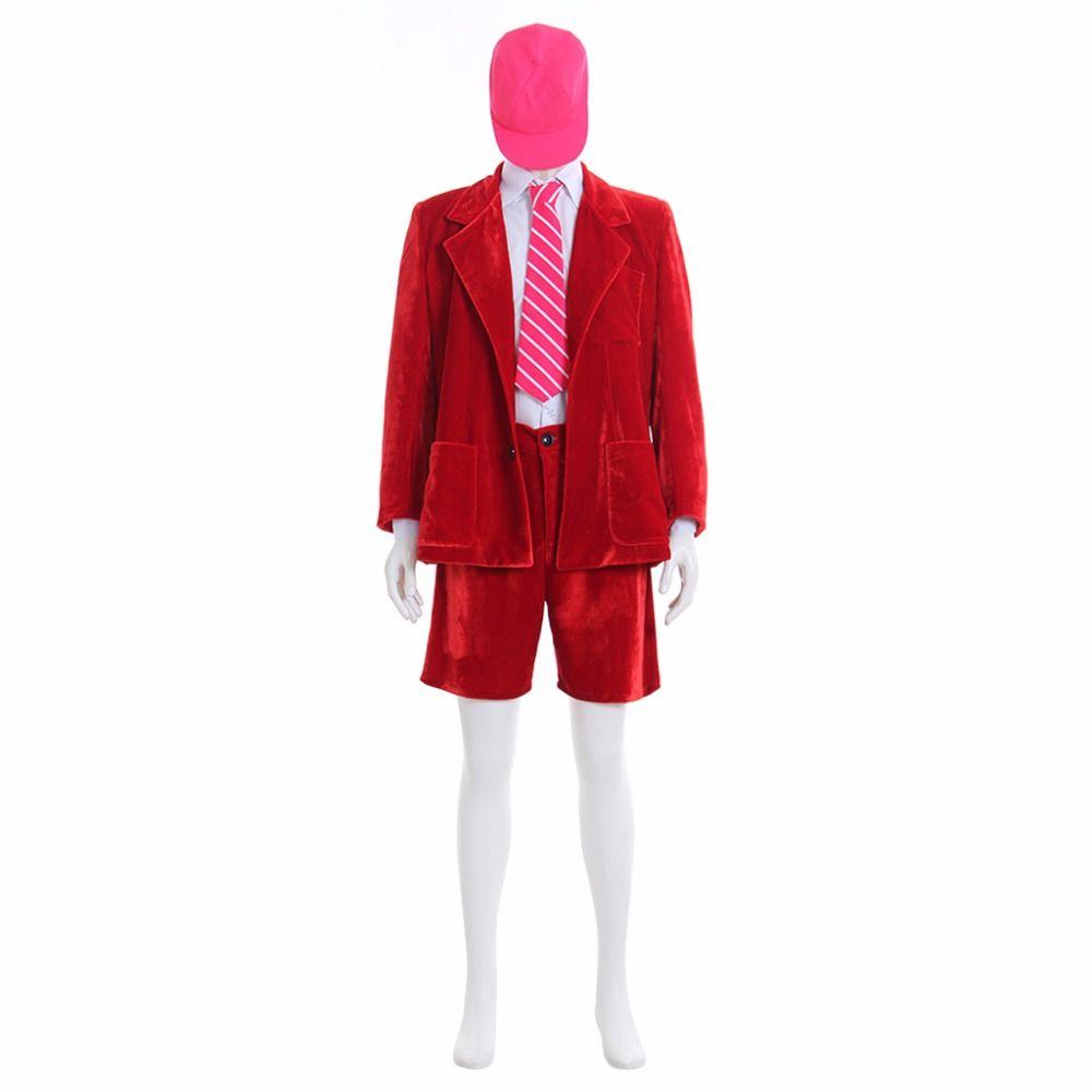 Superstar AC/DC Band Angus Junge Schule Boy Outfit Cosplay Red Jacke Mantel Kurze Hosen Weiß Hemd Voll Set L0516