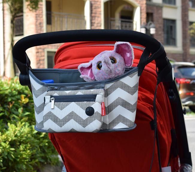 Bébé poussette sac couche-culotte momie sac chariot suspendu panier organisateur de rangement voyage biberon poussette accessoires