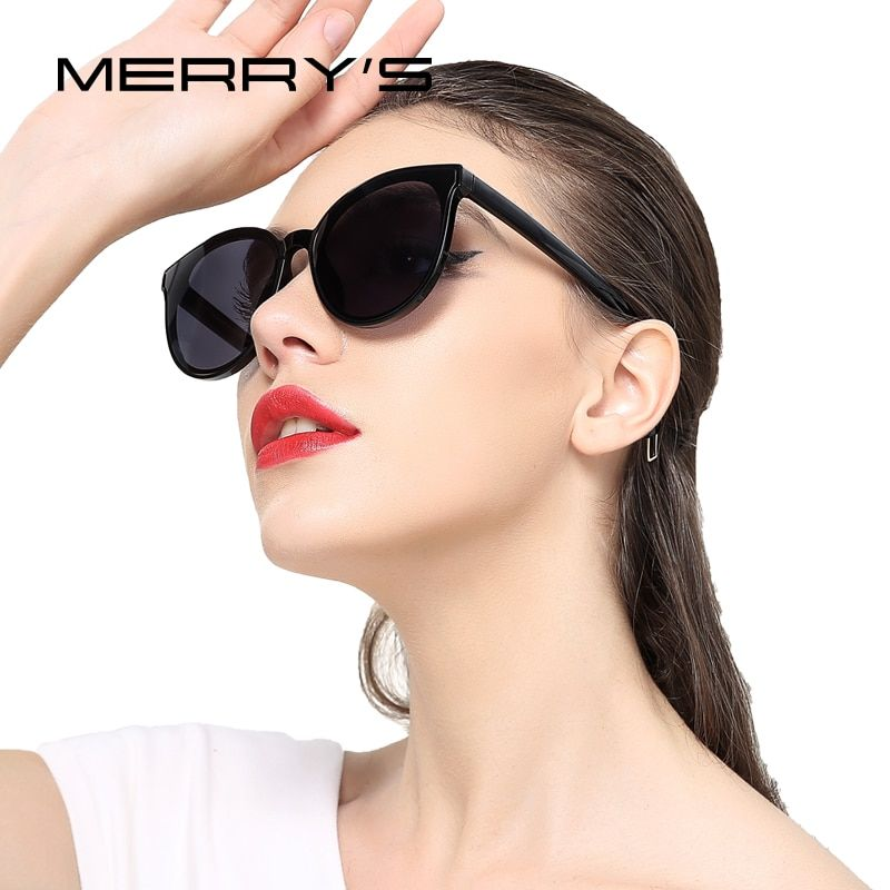 Merry's Для женщин классический Брендовая Дизайнерская обувь кошачий глаз Солнцезащитные очки для женщин s'8094