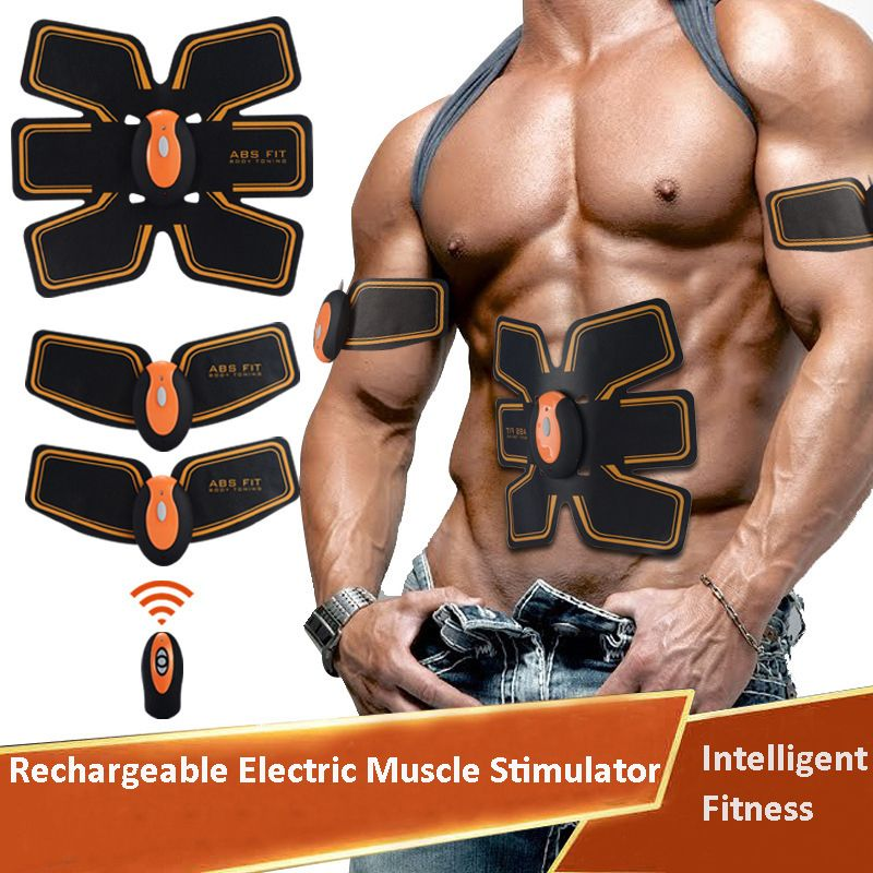 NEW Rechargeable Electric Muscle Stimulator EMS Body Slimming Abdominal Muscles Training Machine Body Toning Arm Waist Massager