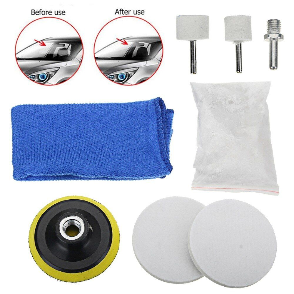 Big Size 8Pcs/set Universal Car Glass Polishing Kit Practical Auto Car Windscreen Repair Windows Scratch Remover