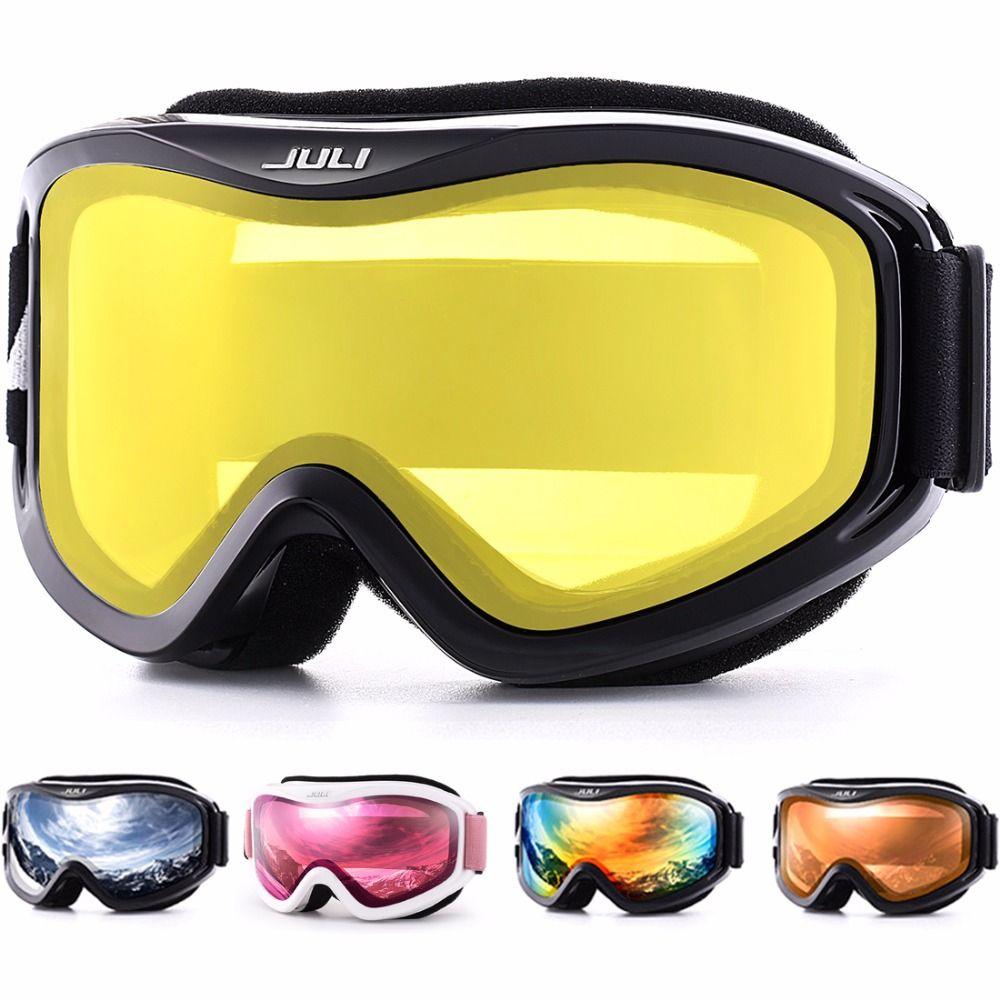 Лыжные очки, зимние виды спорта сноуборд с анти-туман двойные линзы Лыжная маска очки катание на лыжах мужские и женские зимние очки для кат...