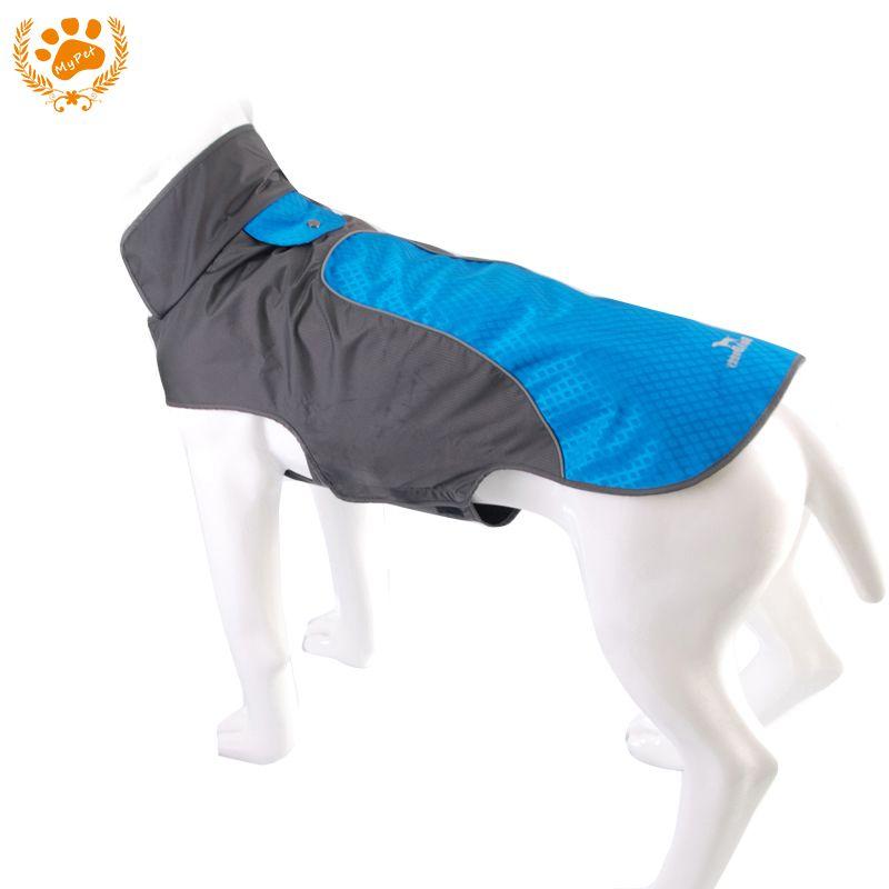 My Pet 3 farbe Wasserdicht Hund Außen Reflektierende Streifen Blau Jacke Winter Warm Haustiere Kleidung Atmungs Plus Größe Weihnachten 12012