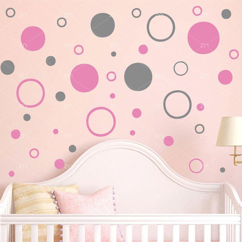 Cercle à pois rond stickers muraux bricolage vinyle stickers pour enfants chambre maison salon pépinière décoration mur Art Mural