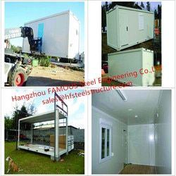 Portable Multi-use Prefabricated Steel Frame Container House/Modular Container Home With Interior Decoration