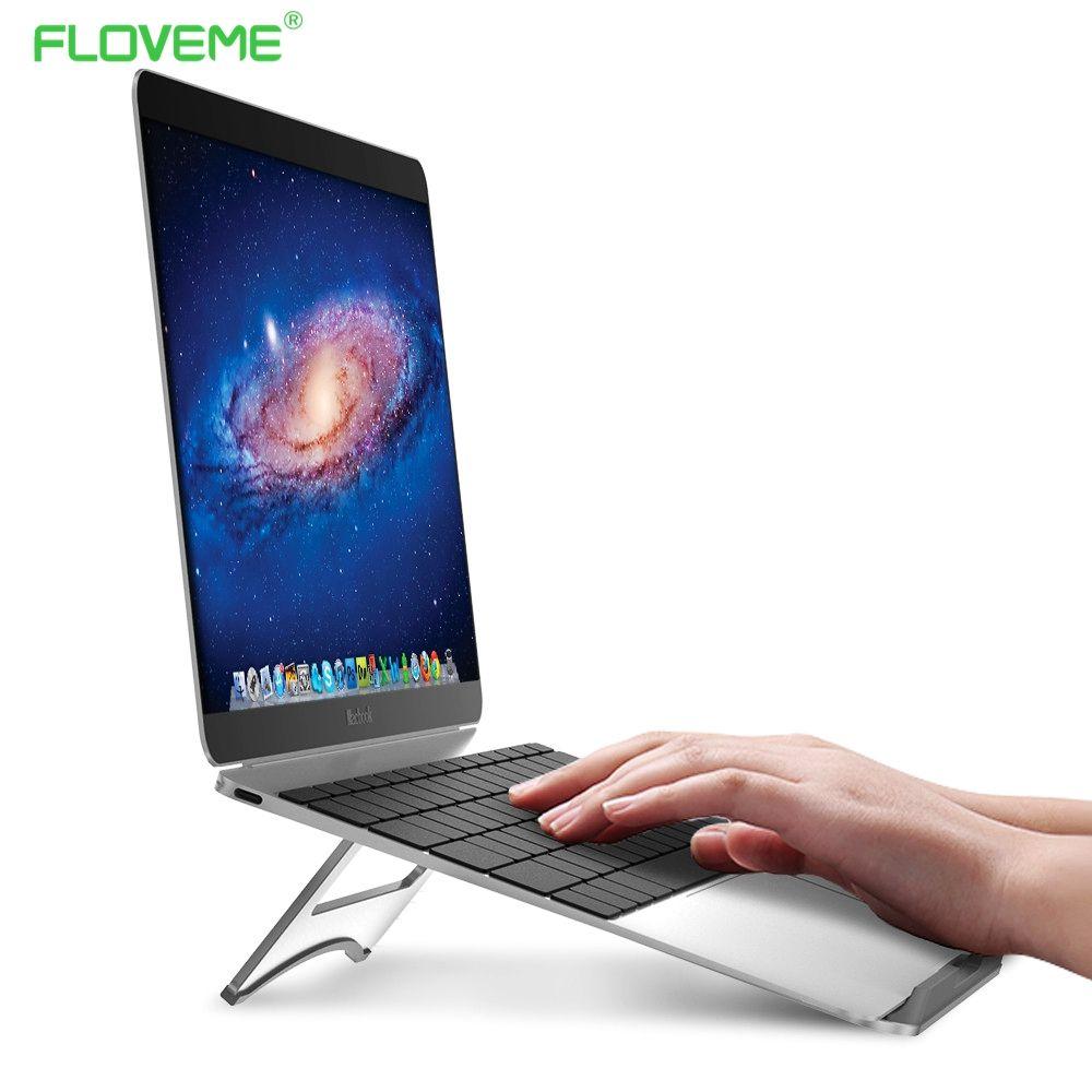 Floveme Авто держатели для ноутбука Портативный Планшеты алюминиевый держатель Авто держатели для ноутбука S для MacBook Air Mac Book Pro 120 градусов План...