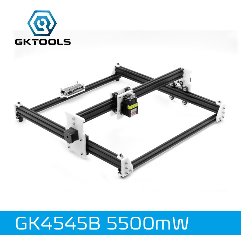 GKTOOLS 45*45cm 5500mW Wood Laser Engraver Cutter Engraving DIY Machine Mini CNC Printer PWM,Benbox GRBL EleksMaker