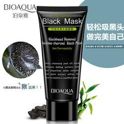 BIOAQUA charbon de Bambou Extraction Des Comédons Visage Masque Boue Deep Cleansing Noir Masque Traitements de L'acné Masque Point Noir Masque Facial