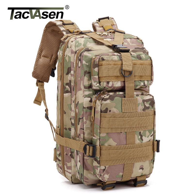 TACVASEN 3P Waterproof Camouflage Bag Men Women Army Military Backpack 30L Travel Knapsack Oxford Molle Back Back TD-GZBL-001
