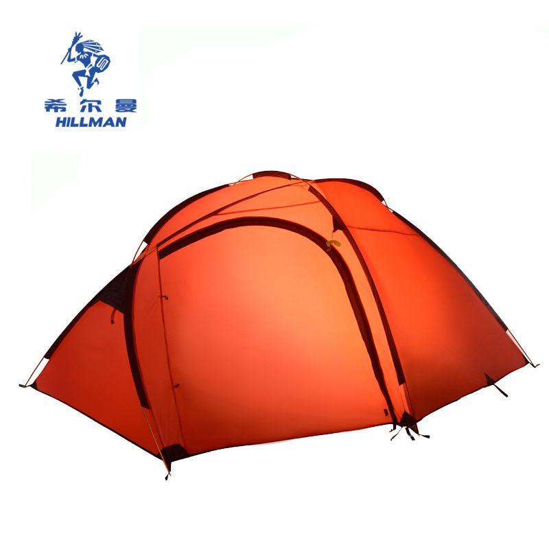 Hillman Gute Qualität Aluminium Pole Ultraleicht Doppel Schicht 3-4 Person Wasserdicht Professionelle Camping Zelt Strand Zelt