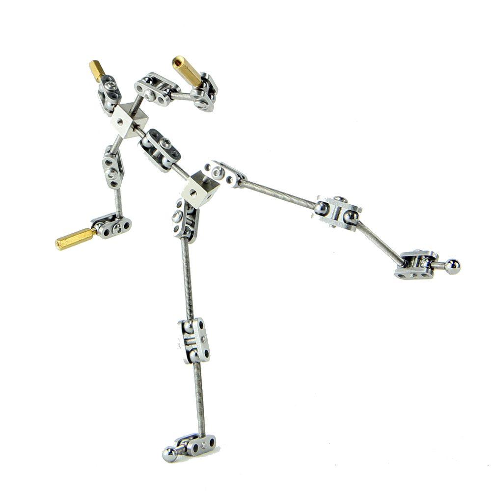 Bricolage kit d'induit studio d'animation non prêt à l'emploi pour marionnette stop motion avec différentes hauteurs de squelette de corps humain