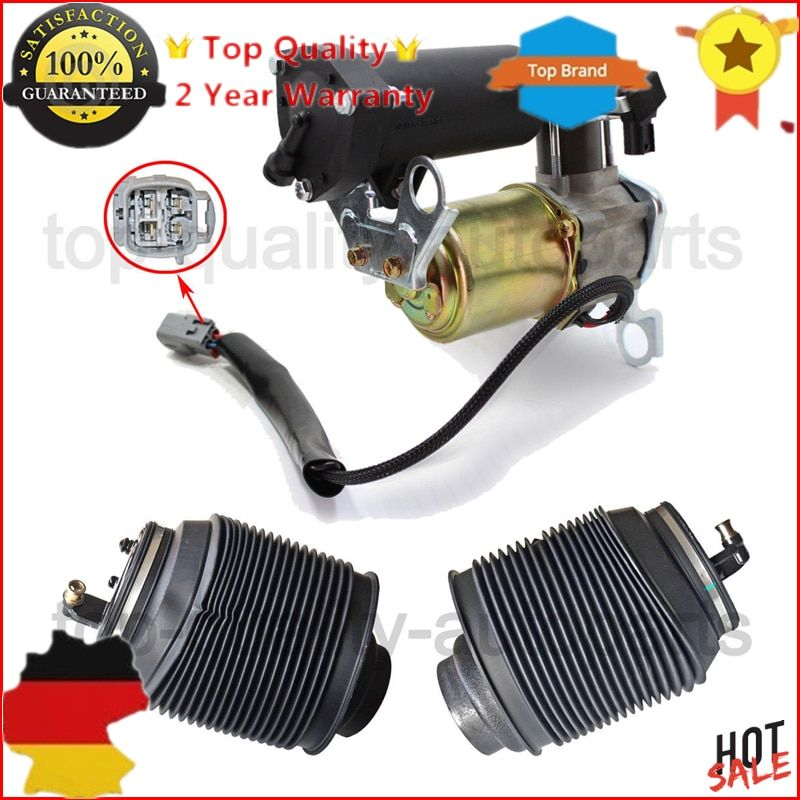 New Air suspension Compressor with DRYER & Spring bag Kit For Toyota 4 Runner Lexus GX470 Land Cruiser Prado 120 J12 2003-2009