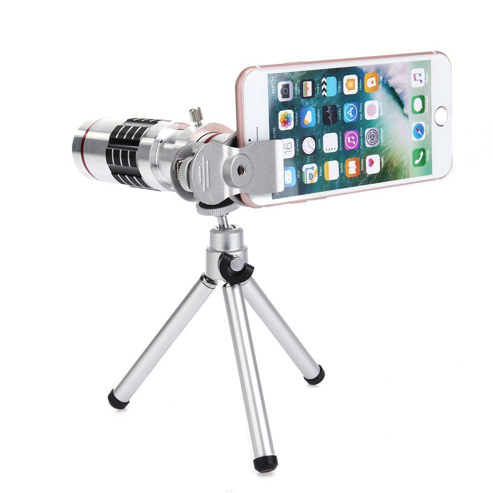 ALLOET 18X Zoom Téléphone Télescope Monoculaire Téléobjectif Camera Lens Samrtphone Universel Clip Trépied Mount Holder Pour iPhone Samsung