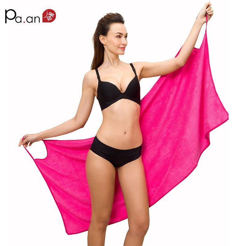 Hot Sexy Serviette De Bain Mise À Niveau Taille Sangle Peignoir Portable Serviettes De Plage Microfibre Tissu Super Doux Absorbant Multi Couleurs