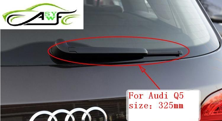 Livraison gratuite balais d'essuie-glace arrière de voiture pour Audi Q5 en caoutchouc souple taille de la lame d'essuie-glace 13
