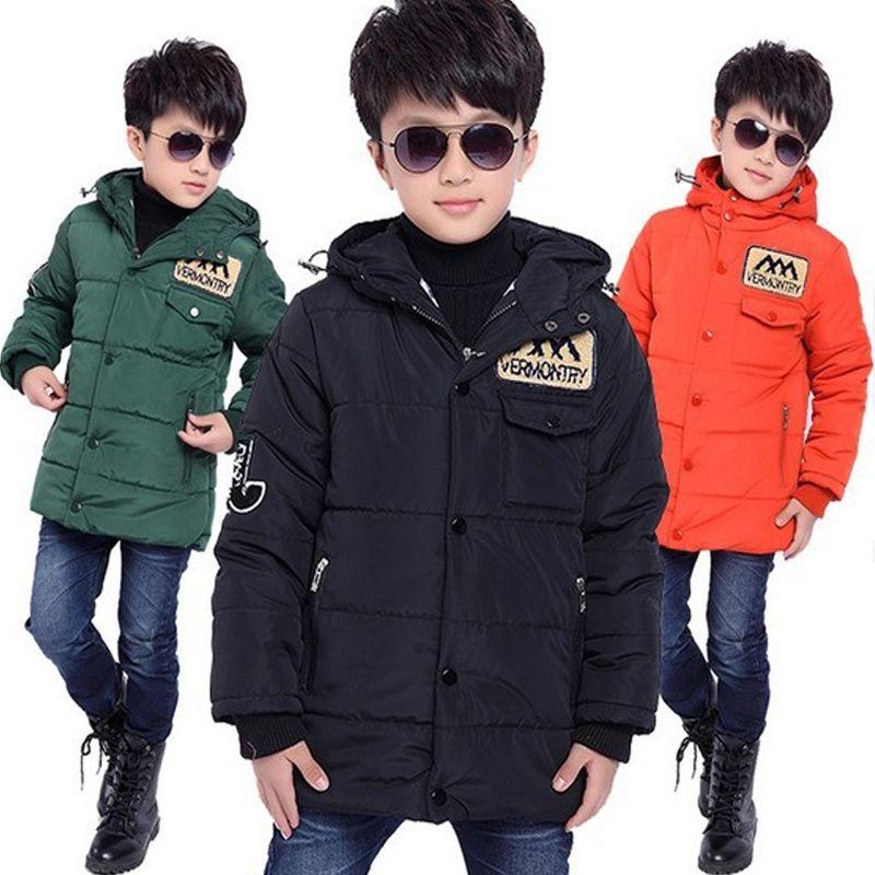 Winter Jacket For Boys Children's Down Jacket Hooded Coats&Parkas Thick Children Overcoat Kid <font><b>Clothes</b></font> Baby Boy <font><b>Clothes</b></font>