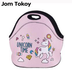 Jom Tokio unicornio tiempo térmico 3d impresión almuerzo bolsas para las mujeres niños bolsa térmica almuerzo caja de comida Picnic bolsas bolsos de mano