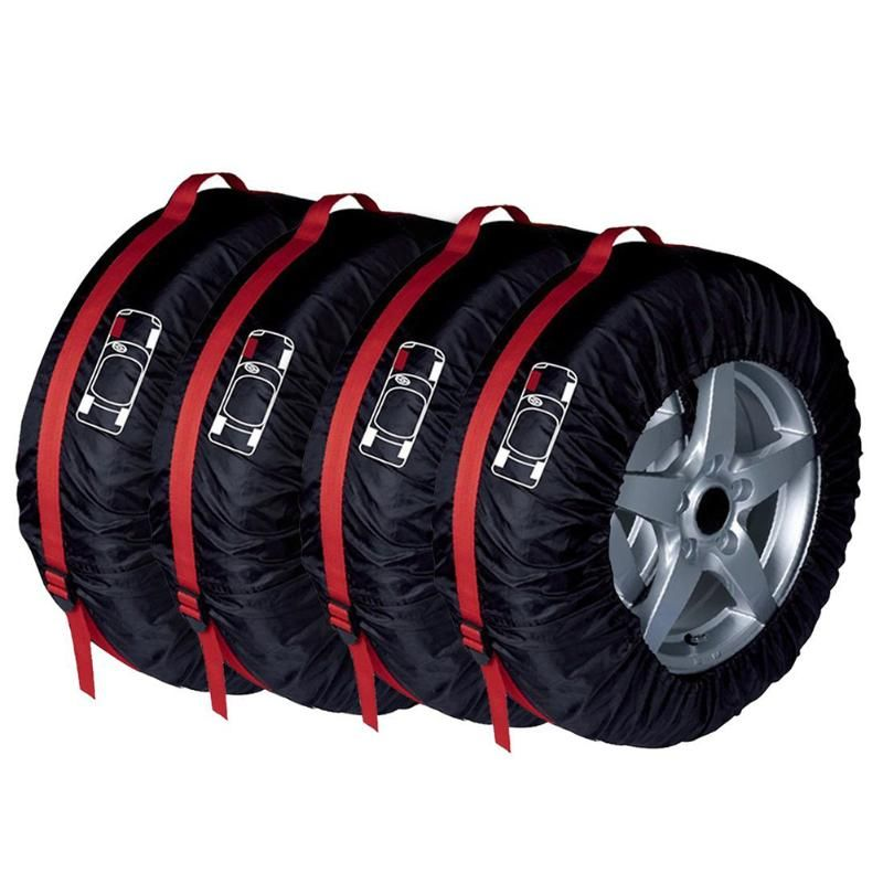4Pcs S/L Size Car Spare Wheel Tyre Tire Protection Storage Bag Cover Bags for Universal Car High Quality Vehicle Wheel Protector