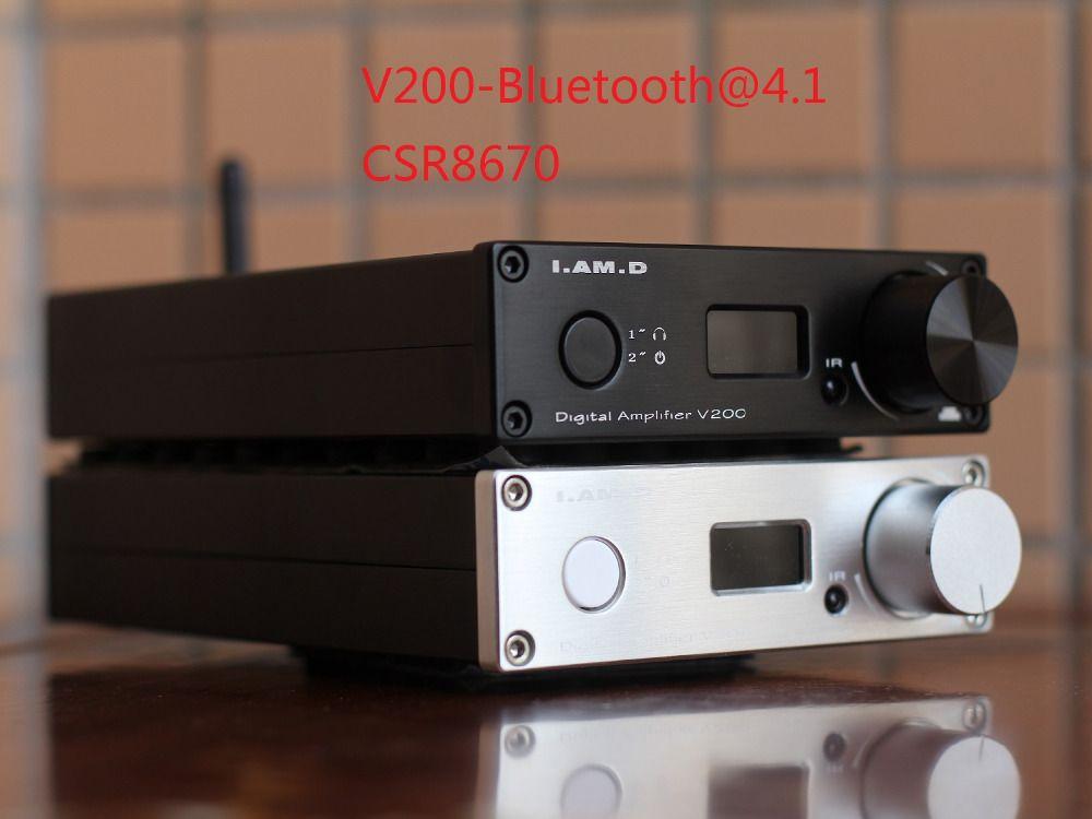 2018 I.AM.D V200BT Bluetooth@5.0 CSR8675 Support APTX HD Full Digital Amplifier 150W*2 USB XMOS U208 24Bit/192KHz Remote Control