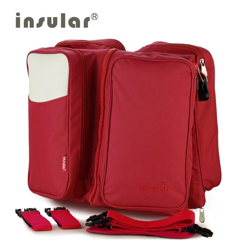 Insular Elegant Baby Diaper Backpacks Bags Nappy Stroller Bags Fashion large capacity multi-functional combo mommy package