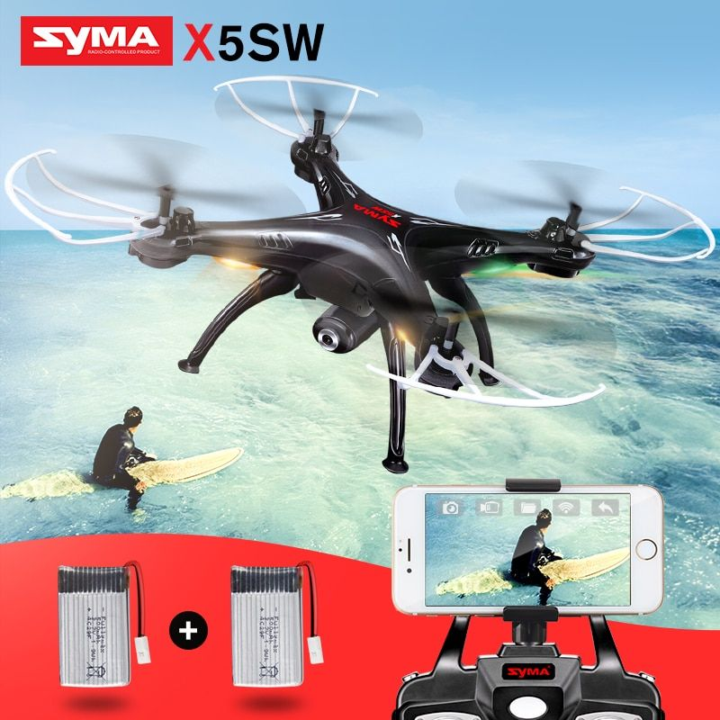 Syma X5SW RC Drone With Camera Wifi FPV Real Time Transmission Quadcopter RC Helicopter 360 Degree Rolling Headless Mode Drones