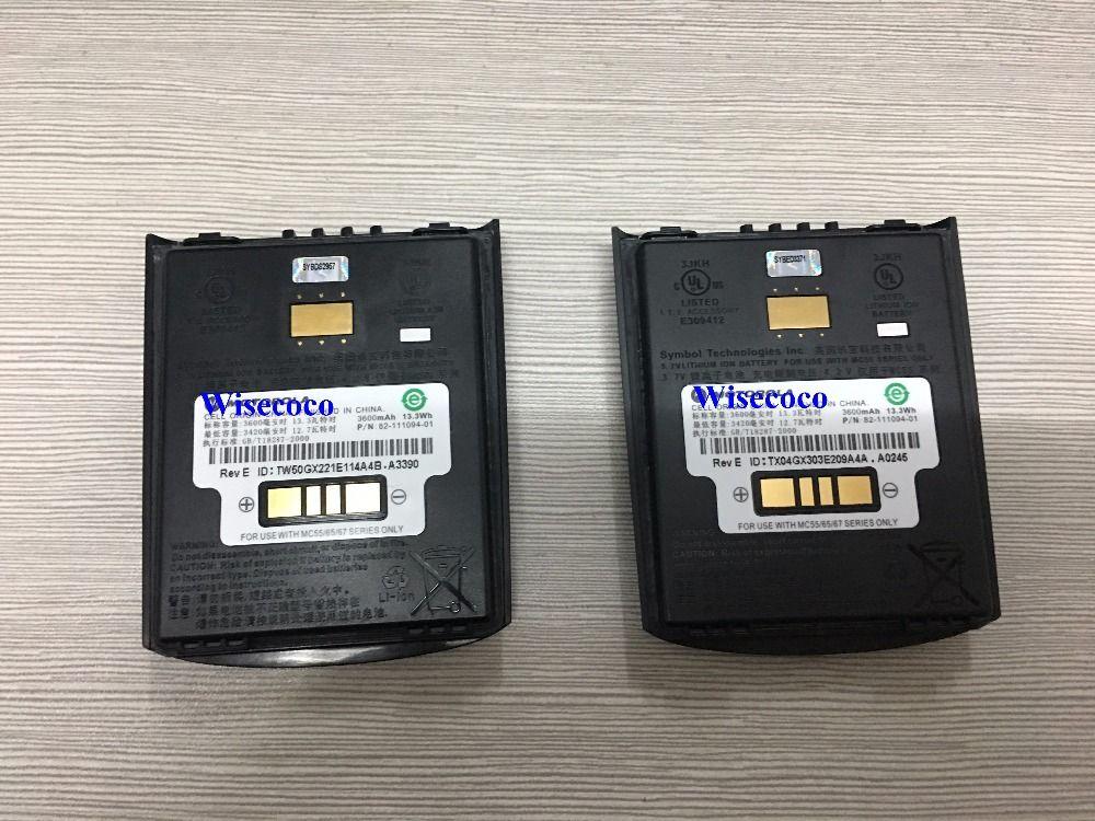 Nouvelle origine Pour Le Symbole MC55 MC65 MC659B MC5590, MC55A0 Haute Capacité Étendue Batterie (82-111094-01, 3.7 V, 3600 mAh)