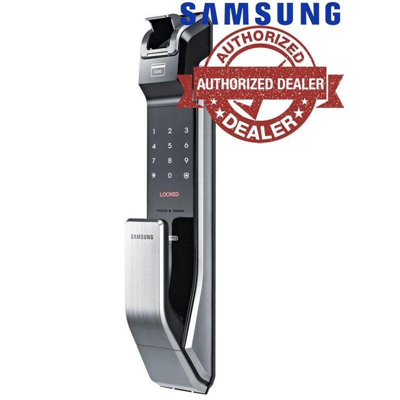 Samsung SHS-P718 Fingerprit Digital Door Lock Push Pull ENGLISH Version Big Mortise Silver Color Promotion